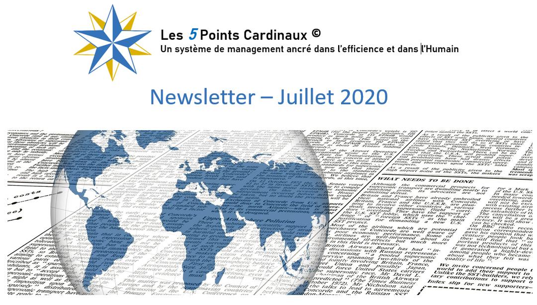 Les 5 Points Cardinaux – Newsletter juillet 2020